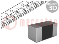 Ferrite: bead; Imp.@ 100MHz:1000Ω; Mounting: SMD; 0.1A; Case:0603