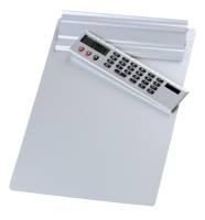 Das Bild zeigt das Klemmbrett mit Taschenrechner.