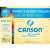 CANSON Pochette de 12 feuilles papier dessin MI-TEINTES 160g 24x32cm assortis vifs Ref-317103