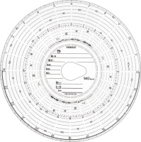 Original Kienzle Diagrammscheiben 140-24 EC 4 K, 100 Stück