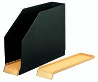 Kassette für Registratur, Hartpappe (RC), 85 x 318 x 240mm, schwarz
