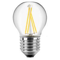 Blulaxa LED Filament Glühfaden Lampe Tropfenform RETRO klar G45, 300°, E27, warmweiß, Glas, 4W