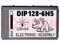 Display: LCD; grafisch; STN Positive; 128x64; blau; LED; 75x45,8mm