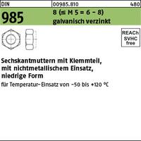 DIN 985 8 M 6 galv. verzinkt gal Zn VE=S (1000 Stück)