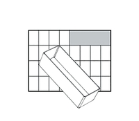 Raaco Insert Storage Solution for Small Parts Robust Polypropylene Transparent Ref 114592 [Pack 24]