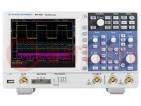 Osciloscopio: digital; Banda: ≤100MHz; Canales:2
