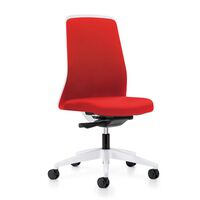 EVERY operator swivel chair, chillback back rest in white