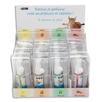 APM Présentoir 12spray écran 30ml+microfibre18x18cm:5x4 senteur Thé Vert,Pêche,Baie sauvage,Citron 600113