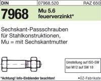 Sechskant-Paßschrauben M16x100