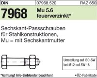 Sechskant-Paßschrauben M16x120