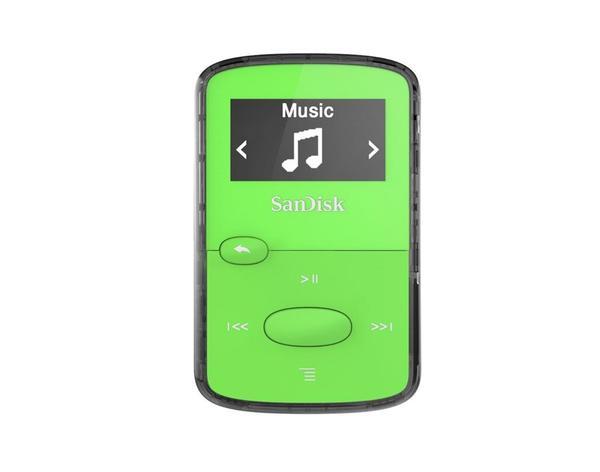 Sandisk CLip Jam MP3 Player 8GB, microSDHC, Radio FM, Green - SDMX26-008G-G46G