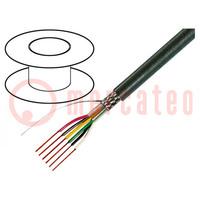 Wire; 4x0,14mm2; tinned copper braid; PVC; grey; 49V; 100m