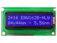 Kijelző: LCD; alfanumerikus; STN Negative; 16x2; kék; LED; 84x44mm