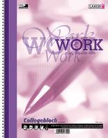 "Collegeblock ""WORK"" A4-80 rau/Rd ECF"