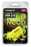 USB-STICK INTEGRAL 128GB 3.0 NEON GEEL