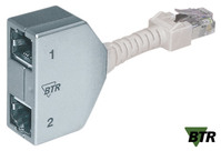 BTR Cable Sharing Adapter, Cat 5, 1x Telefon / 1x Ethernet