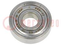 Ložisko: jednoradové guľkové; Øvnút:8mm; Øpriem:22mm; W:7mm