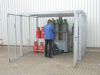 Gasflaschen-Container Zubehör Gasflaschengestell verzinkt