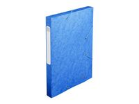 EXACOMPTA Teczka kartonowa z gumka, 25mm, niebieski