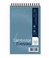 Cambridge Notebook Wirebound Headbound Ruled 60gsm 160pp 125x200mm Ref 100080235 [Pack 10]