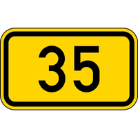 Anwendungsbeispiel:, VZ Nr. 401 (Bundesstraßen)