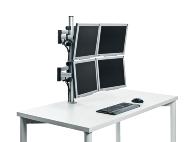 Das praktische MPS-Set zur Anbindung von 4 Monitore an den Schreibtisch.