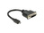 Adapter HDMI Micro-D Stecker an DVI 24+5 Buchse, schwarz, 0,2m, Delock® [65563]
