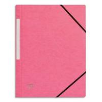 5 ETOILES Chemise 3 rabats monobloc � �lastique en carte lustr�e 5/10e, 390g. Coloris rose clair.