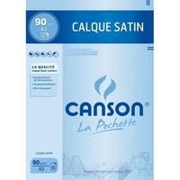 CANSON Pochette de 10 feuilles papier calque satin 90g A3 Ref-17153