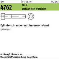 ISO 4762 10.9 M 5 x 20 galv. verzinkt A2F, getempert gal Zn S