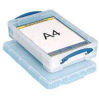 Caja de almacenamiento Really Useful Boxes Transparente polipropileno 39 5 (a) x 25 5 (p) x 8 8 (h) cm