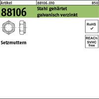 ART 88106 Setzmuttern M 12 / 2,9 Stahl gehärtet, galv. verzinkt gal Zn VE=S (100 Stück)