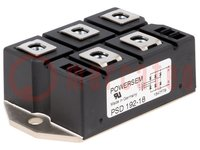Three-phase bridge rectifier; Urmax:1.8kV; If:248A; Ifsm:2.8kA