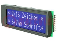 Display: LCD; alphanumerisch; FSTN Positive; 16x2; LED; 68x26,8mm
