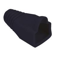 Knickschutztülle schwarz, für RJ-45, 10 Stck