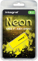 USB-STICK INTEGRAL 8GB 2.0 NEON GEEL