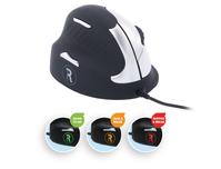 R-Go Tools R-Go HE Break Mouse, Ergonomische muis, Anti-RSI software, Medium (Handlengte 165-185mm), Linkshandig, bedraad