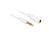 Verlängerungskabel Audio Klinke 3,5 mm Stecker an Buchse IPhone 4 Pin, weiß, 0,5m, Delock® [84717]