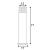 Außenleuchte RUSTY SQUARE Standleuchte, stahl gerostet, höhe 71cm