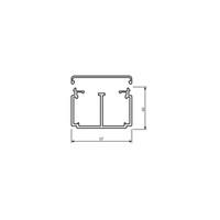 Hager Installationskanal LF mit Trennwand, 40 x 57 x 2000 mm, reinweiß