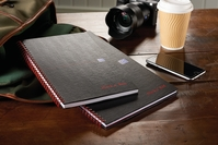 Black n Red Book Wirebound Smart Ruled and Perforated 90gsm 140pp A4 Matt Black Ref 100080218 [Pack 5]