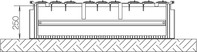 Festplatzsockel Gr.2 FB4 f.Bodenaufbau SX022F