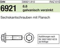 6kt.schr. mit Flansch M8x30