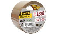 3M Scotch Verpackungsklebeband CLASSIC, 50 mm x 50 m, braun (9005067)