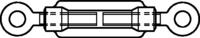 DIN 1480 Spannschlossmuttern mit 2 Ösen zn M8mm