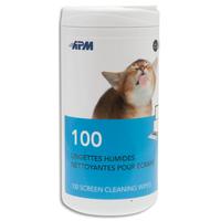 APM Boîte distributrice de 100 lingettes pour tablettes/smartphones 600103
