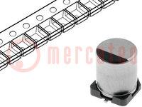 Condensador: electrolítico; de baja impedancia; SMD; 47uF; 50VCC