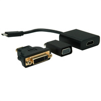 VALUE Display Adapter USB Typ C - VGA + HDMI + DVI