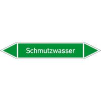 Rohrleitungskennzeichnung/Pfeilschild Gruppe1 Wasser(grün),selbstkl. 12,6x2,6cm Version: P1359 DIN 2403 - Schmutzwasser P1359