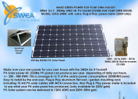 235W grid tie PV-solar system for your company or house